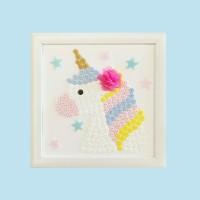 Button Art Unicorn – Busy Box Aktivitas Craft DIY Anak Wall Art