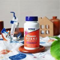Now Foods Vitamin D3 & K2 120 Veg Capsule