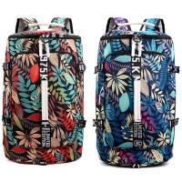 Backpack Multifungsi Tas Ransel untuk Gym Traveling Floral / Daun