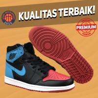 Sepatu Basket Sneakers Nike Air Jordan 1 UNC To Chicago Black Red Blue