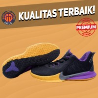 Sepatu Basket Sneakers Nike Kobe Mamba Fury Lakers Black Purple