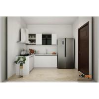 Paket custom kitchen set + appliances (L shape)