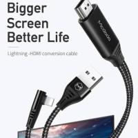 kabel data mcdodo lightning apple to hdmi iPhone 5 6 5s 6s 7 plus