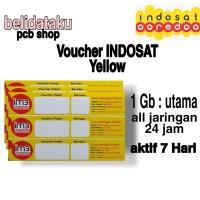 Voucher Paket Data INDOSAT YELLOW 1GB - 7 HARI