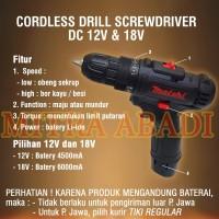Mesin Bor Tangan Portable / Cordless Drill Screwdriver DC