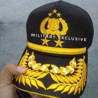 topi polisi perwira tinggi PATI bahan jaring tebal