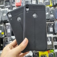 Auto Focus Asus Zenfone Max Pro M1 Leather SoftCase kulit jeruk