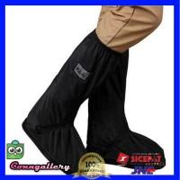 Cover Sepatu Jas Hujan Rain Cover Hujan Sepatu dengan Reflektor Cahaya - Hitam, M