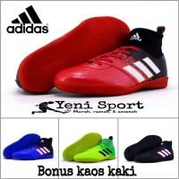 PROMO!! Sepatu Futsal Anak Adidas Techfit X Abu Hijau Stabilo - Merah,