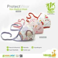 VELVET JUNIOR MASKER KAIN ANAK Full Print Wajah Model Hijab