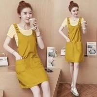 overall dress rok jumper baju wanita anak remaja korea luaran outer