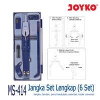 Jangka Math Set JOYKO MS-414 Study Thumbscrew Compass Universal Holder