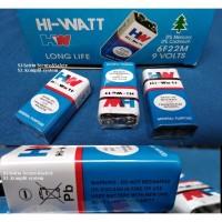 Battery kotak baterai 9V batery Hi Watt HW 9 V Volt batre Multitester