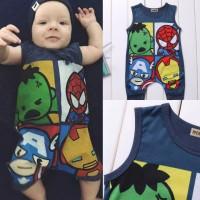 Romper Avengers Hulk Spiderman Ironman captain america bayi import