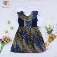Dress Batik Anak uk 1-3 Tahun / Dres Anak Perempuan Pakaian Baju Murah