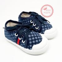 Sepatu bayi laki-laki sneakers lis merah untuk usia 1 sampai 2 tahun