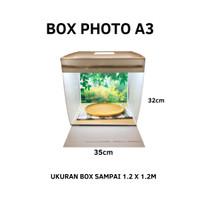 Box Studio mini ukuran A3 (32cm x 32cm) pas dengan alasfoto A3