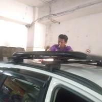 roof rak bagasi atas+croos bar mobil all new rush merek sun rack
