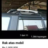 roof rak bagasi atas+croos bar mobil kijang merek sun rack