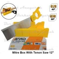 Back Saw Set Miter Box / Gergaji Pigura Mitre Manual
