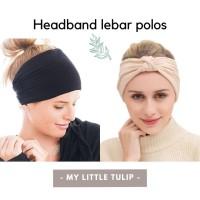 Headband Polos Kain / Headband Lebar Katun / Bandana Lebar Olahraga