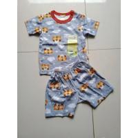 Baju Bayi | Baju Setelan tangan Pendek | Tee Merk Velvet 12 -18 Bulan