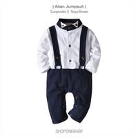 Baju Jumpsuit Laki Jumpsuit Party Jumper Baby Pakaian Pesta Bayi ALLAN - Navy, 70