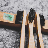 Sikat Gigi Bambu Charcoal Eco-Friendly Bamboo Charcoal Toothbrush