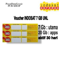 VOUCHER PAKET DATA INDOSAT UNLIMITED 7GB