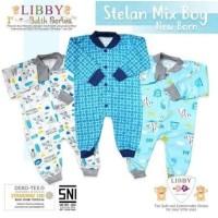 Libby Sleepsuit Buka Kaki 3pcs NB BATIK EDITION BOYS / Baju Bayi