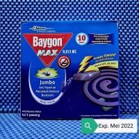 baygon max/tercepat wangi lavender jumbo obat nyamuk bakar isi 5pasang