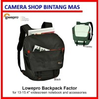 Lowepro Backpack Factor for 13-15 inch Laptop (Black & Parsley Green)