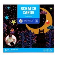 Joan Miro Scratch Card Full Moon mainan edukasi art craft