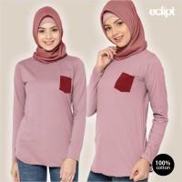 Eclipt T-shirt Wanita - Kaos Wanita Casual Lengan Panjang - Pocket5
