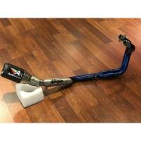 Knalpot Austin Racing GP1R Fullsystem Kawasaki Ninja 250 Blue Header