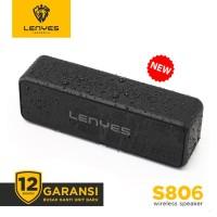 LENYES S806 waterproof ip67 voice assistant wireless bluetooth speaker - Hitam