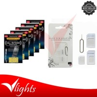 Buy 1 Get Free - Noosy SIM Card Adapter Free Stiker Penguat Sinyal Hp