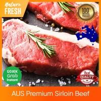 Daging Sapi AUS Sirloin Striploin Premium Grade - AUS Beef Steak 200gr