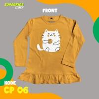 KAOS ANAK CEWEK LENGAN PANJANG CAT KUCING SUPERKIDS CLOTH