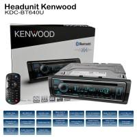 Kenwood KDC-BT640U Single Din Head Unit Tape Audio Mobil CD Bluetooth