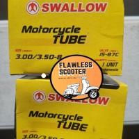 Ban Dalam Dalem Motor Vespa Swallow ukuran 350 400 Ring 8