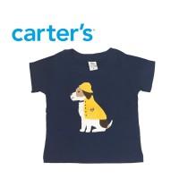 Atasan Baju Anak Lakilaki Navy Dog Carters