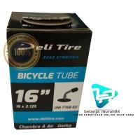 Ban Dalam Sepeda Listrik Selis Deli Tire 16 x 2.125 Pentil Bengkok