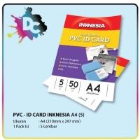 Kertas PVC Bahan ID Card Instan A4 isi 5 Lembar