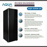 KULKAS AQUA AQR-305 IM DS INVERTER 2 PINTU