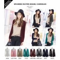 Cardigan Big Size Jumbo Spandek Baju Atasan Wanita Polos XL XXL XXXL