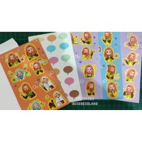 Sticker potek Muslimah Euis Amplop isi 5 lembar