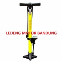 Pompa Angin Tabung Stainless Plus Meter Ban Sepeda Motor Mobil