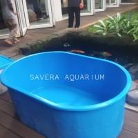 Bak Fiber Oval 135x85x50cm / Tempat Koi / Kolam Karantina Ikan