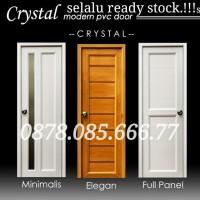 Pintu kamar mandi/kamar tidur PVC CRYSTAL best seller - Putih, non jalusi
